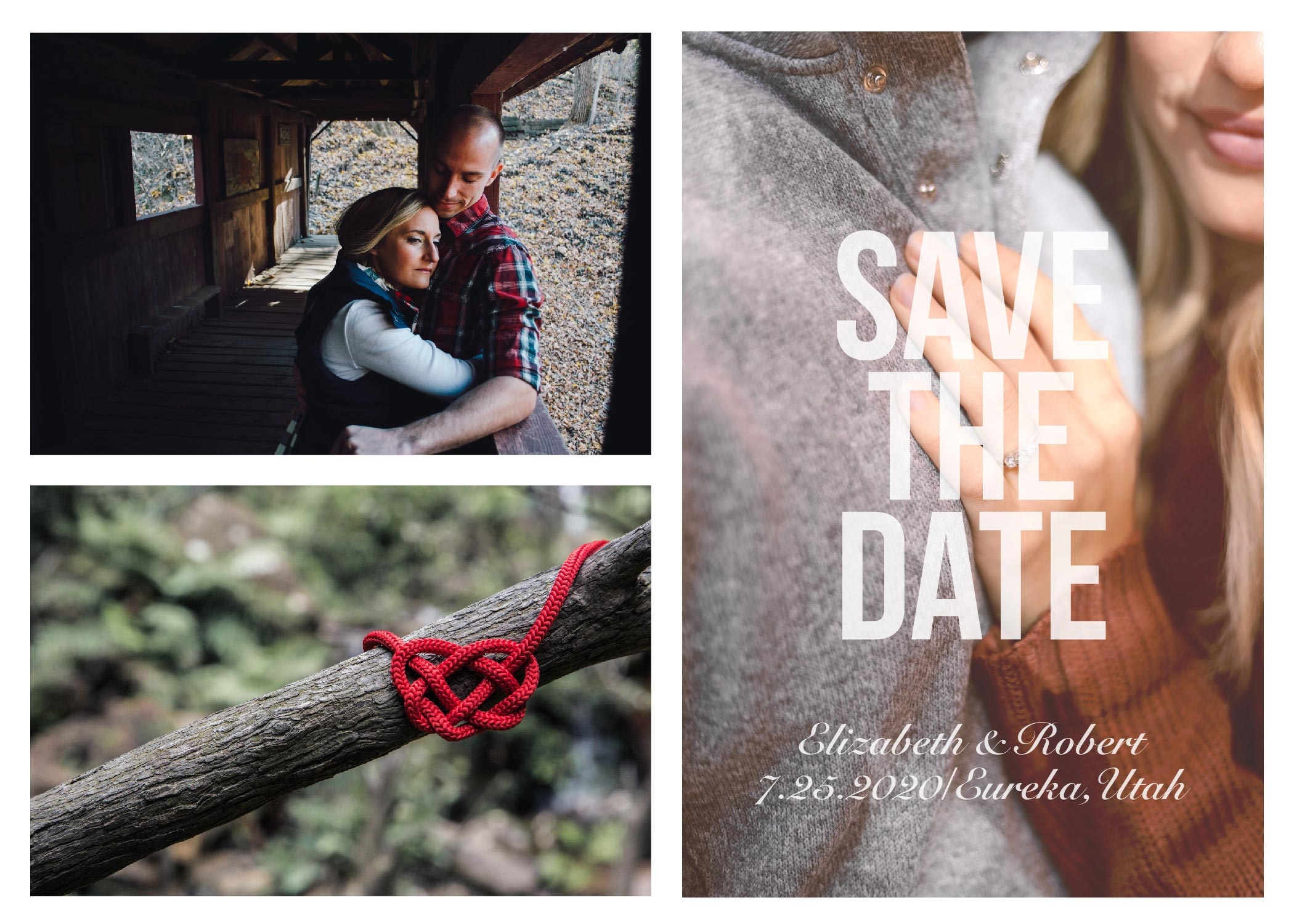 PHOTO COLLAGE SAVE THE DATES