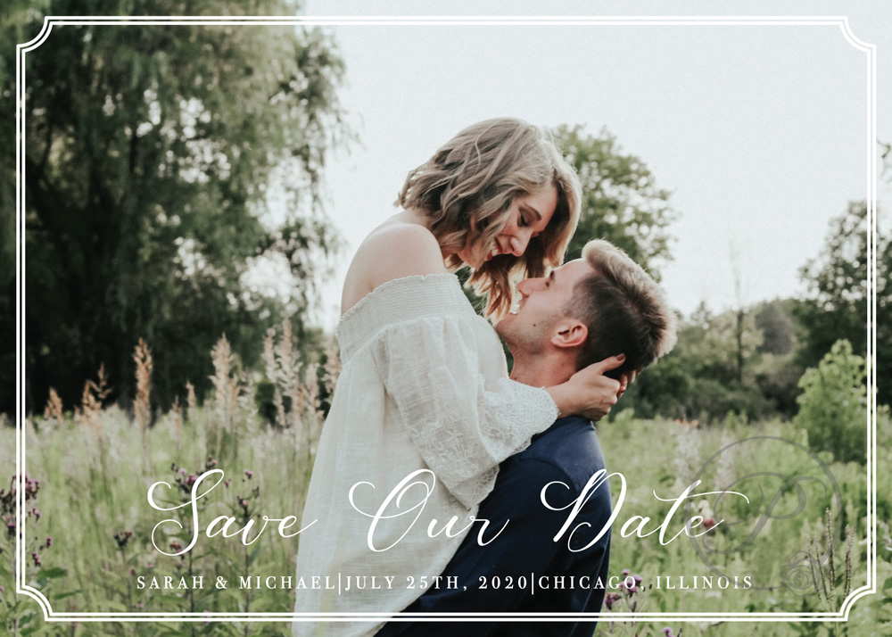 IN LOVE WITH PHOTO SAVE THE DATES