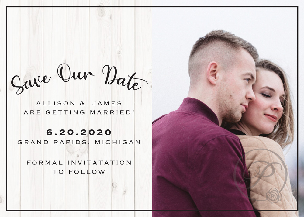OUTDOORS WITH PHOTO SAVE THE DATES