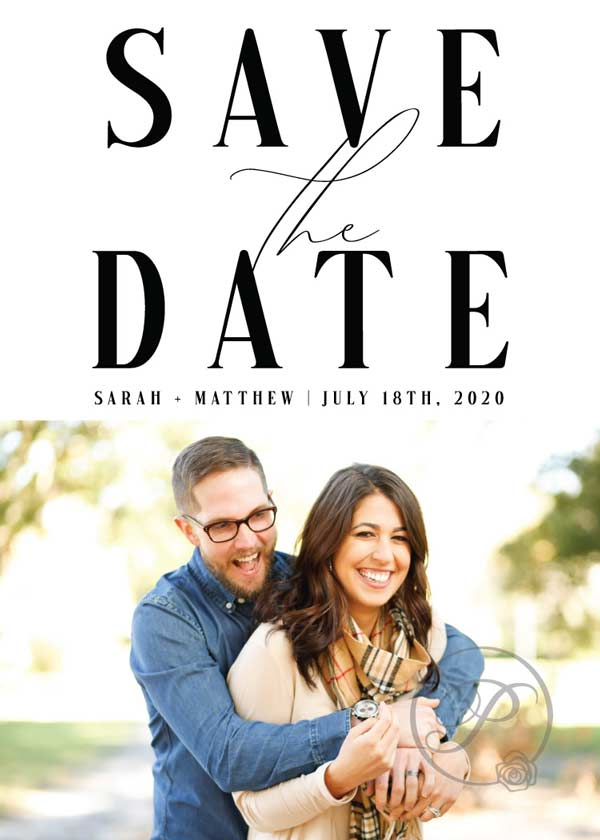 BLACK-AND-WHITE-BOLD-FONTS-AND-PHOTO-SAVE-THE-DATES