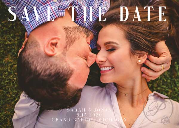 LOVE SAVE THE DATE WITH PHOTO
