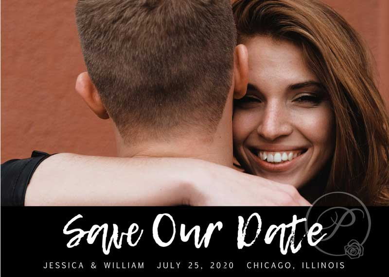 MODERN SAVE THE DATE WITH PHOTO