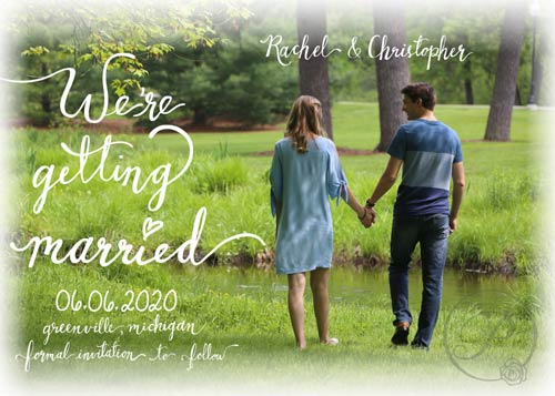 Save the Dates with photo